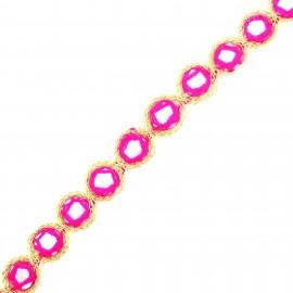 Trimming ribbon India Mirror 20mm - pink x 50cm