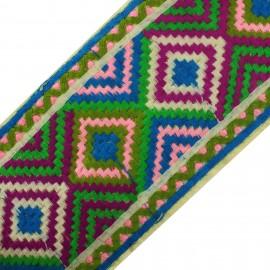 Braid Trimming Ribbon India Lilamayi - blue x 50cm