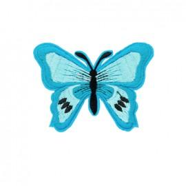 Thermocollant brodé Papillon - turquoise