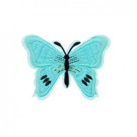 Thermocollant brodé Papillon - azur