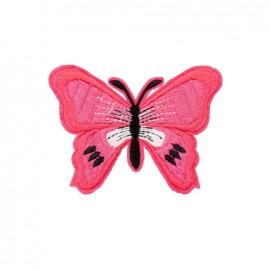 Thermocollant brodé Papillon - fuchsia