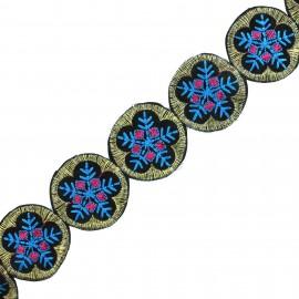 Galon India Ladli - bleu x 50cm