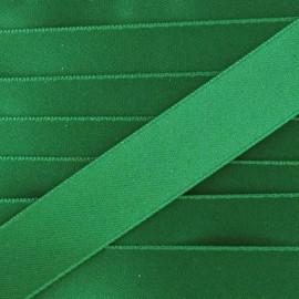 Satin ribbon 10mm - bright green x 1m