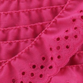 English embroidery Eloïse - fuchsia x 1m
