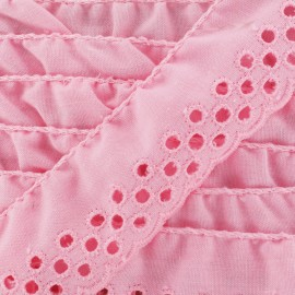English embroidery Eloïse - pink x 1m