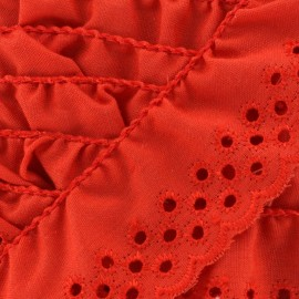 Broderie anglaise Eloïse - rouge x 1m