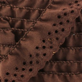 English embroidery Eloïse - brown x 1m