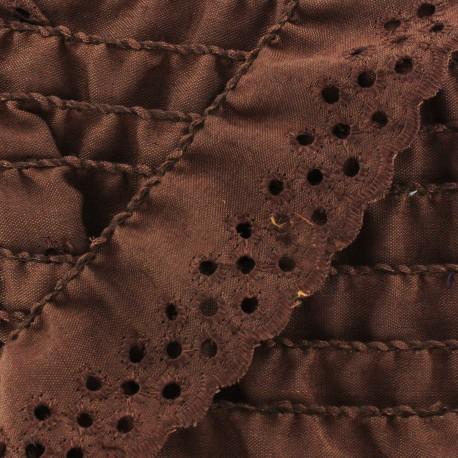 English embroidery Eloïse - brown x 1m
