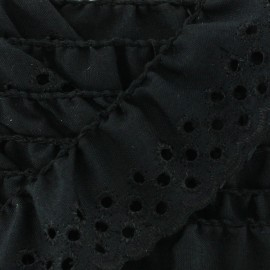Broderie anglaise Eloïse - noir x 1m