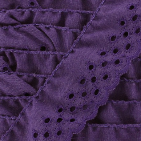 English embroidery Eloïse - purple x 1m