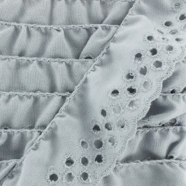 Broderie anglaise Eloïse - gris x 1m
