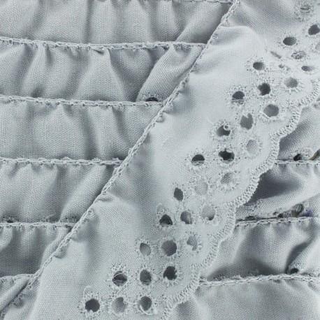 English embroidery Eloïse - grey x 1m