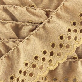 Broderie anglaise Eloïse - beige x 1m