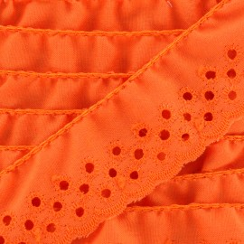 English embroidery Eloïse - orange x 1m