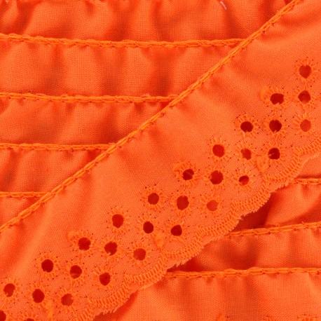 English embroidery Eloïse - orange x 1m