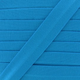 Plain cotton jersey bias binding 20mm - turquoise x 1m