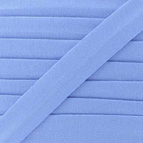 Biais jersey coton uni 20mm - bleuet x 1m