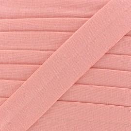 Biais jersey coton uni 20mm - rose x 1m