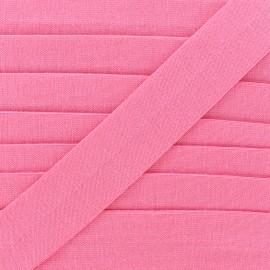 Biais jersey coton uni 20mm - rose barbapapa x 1m