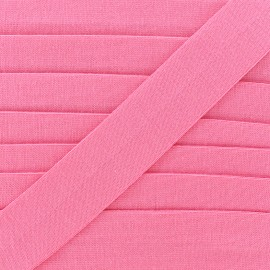 Plain cotton jersey bias binding 20mm - barbapapa pink x 1m