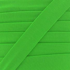Biais jersey coton uni 20mm - vert x 1m