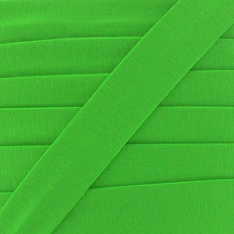 Plain cotton jersey bias binding 20mm - green x 1m
