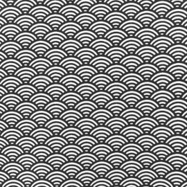 Coated cotton fabric Sushis - grey x 10cm