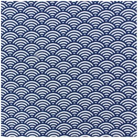Coated cotton fabric Sushis - indigo x 10cm