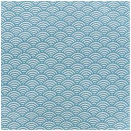 Tissu enduit coton Sushis - canard x 10cm