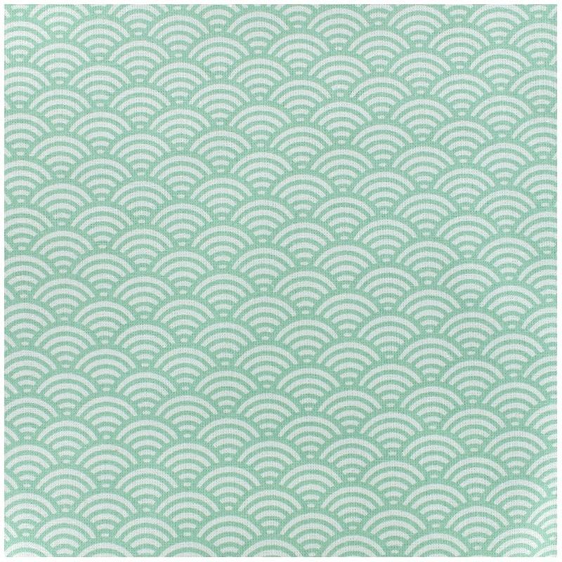 tissu oeko tex enduit coton sushis vert x 10cm ma petite mercerie. Black Bedroom Furniture Sets. Home Design Ideas