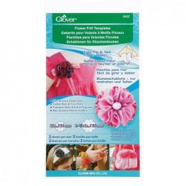 Flower frill templates - Clover