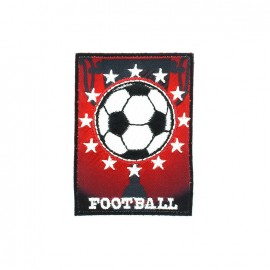 Thermocollant brodé Football - rouge