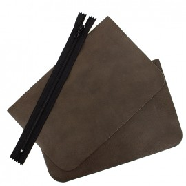 Kit grande pochette cuir - Elephant