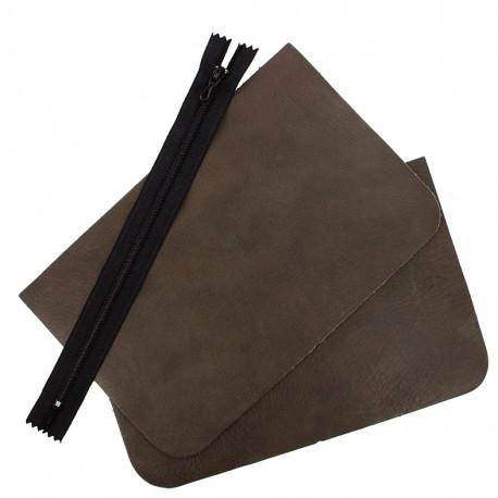 Big leather pocket kit - Elephant