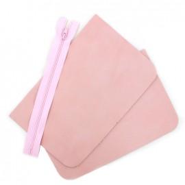 Big leather pocket kit - Rosa