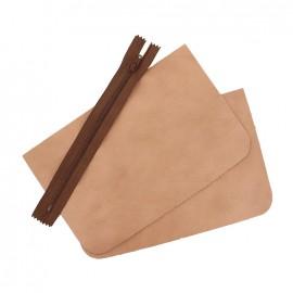 ♥ Big leather pocket kit - Make up ♥