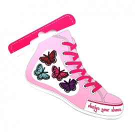 Iron-on patch for shoes - butterfly