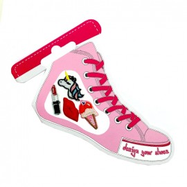 Iron-on patch for shoes - cool girl