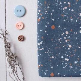 Tissu gaze de coton Atelier Brunette - Terrazzo night x 10cm
