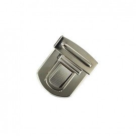Large clip attachment for schoolbag 20 mm - nickel-plated