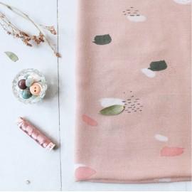 Tissu gaze de coton Atelier Brunette - Moonstone pink x 10cm