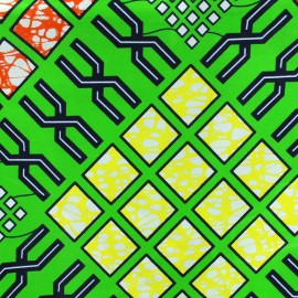 Tissu Wax - Paka x 10cm
