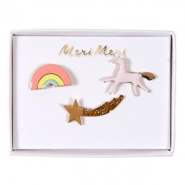 Enamel brooches Meri Meri - unicorn