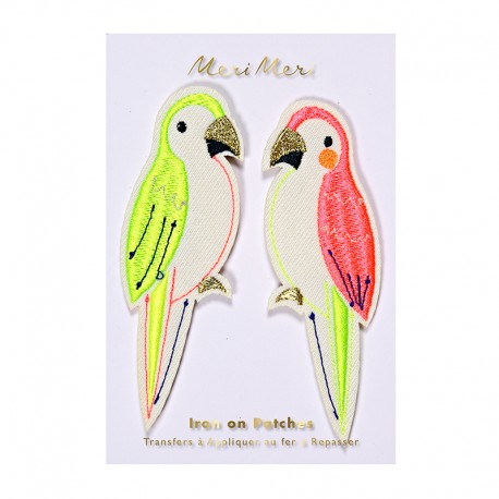 Meri Meri iron on patch - parrots