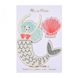 Meri Meri iron on patch - mermaid
