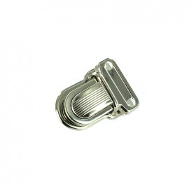 Clip attachment for schoolbag 20 mm - nickel-plated