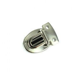 Clip attachment for schoolbag 15 mm B - nickel-plated