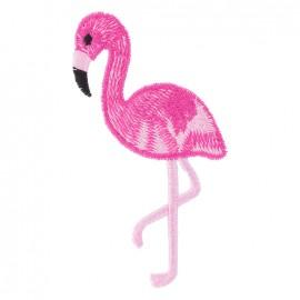 Thermocollant brodé - Flamingo