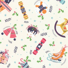 Tissu coton Dashwood Merry Little Christmas - Happy Christmas x 10cm