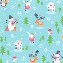 Tissu coton Dashwood Merry Little Christmas - Snow x 10cm